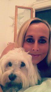 Tanja mit ihrem Hund Cocco